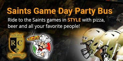 Saints vs Panthers Game Day Party Bus