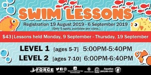 Ellsworth AFB Swim Lessons for September