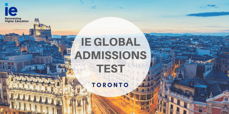 IE Global Admission Test - Toronto tickets