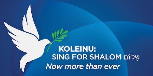 KOLEINU - SING FOR SHALOM Now More Than Ever