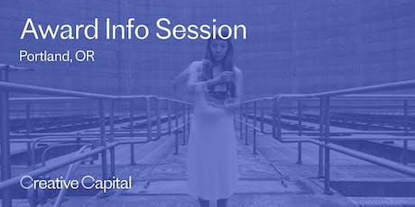 Creative Capital 2020 Award Application Info Session - Portland tickets