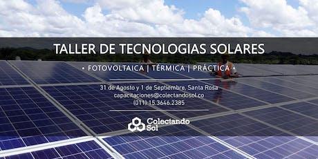 Taller de Tecnologías Solares Santa Rosa La Pampa / Agosto 2019 entradas