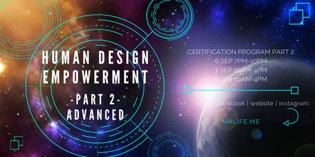 生命易圖証書課程 Human Design Empowerment Certificate Program :: Part 2:: tickets