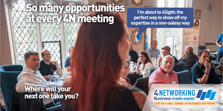 4N Networking Lunch Glasgow City Centre 6th September 2019 tickets
