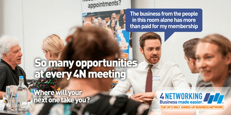 4N Networking Lunch Glasgow City Centre 4th October 2019 tickets