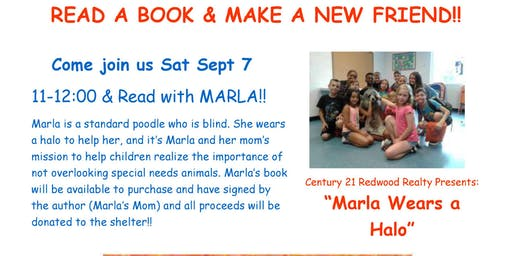 Read A-Long with Marla (Blind Dog)