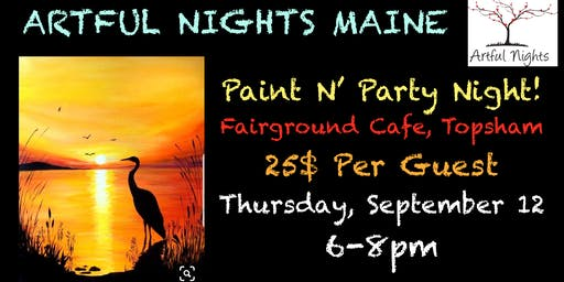 Paint N' Party Night at Fairground Cafe!