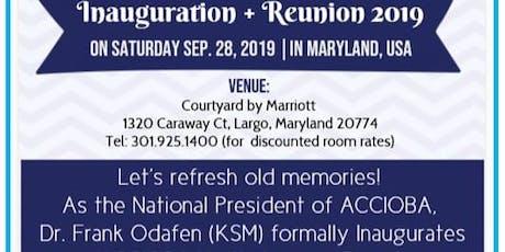 ACC Irrua Old Boys Association (ACCIOBA) North America Inauguration tickets