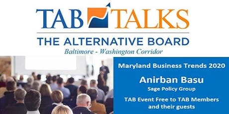 TAB-BWI Presents TAB TALKS - 2020 Maryland Mid-Market Business Trends tickets