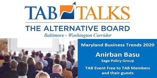 TAB-BWI Presents TAB TALKS - 2020 Maryland Mid-Market Business Trends