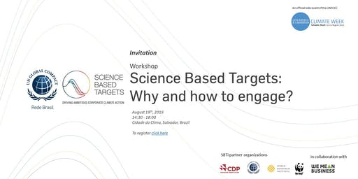 Workshop on Science Based Targets - Official Side Event at LACCW