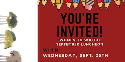 Women to Watch September Luncheon