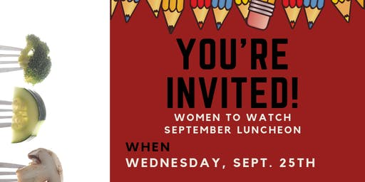 Women to Watch September Luncheon