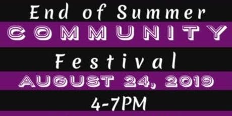 End of Summer Community Festival tickets