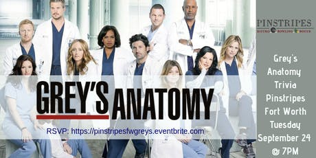 Grey's Anatomy Trivia at Pinstripes Fort Worth tickets