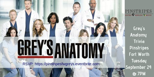 Grey's Anatomy Trivia at Pinstripes Fort Worth