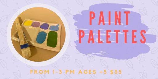 Paint Palettes- Kids Clay Hand Building