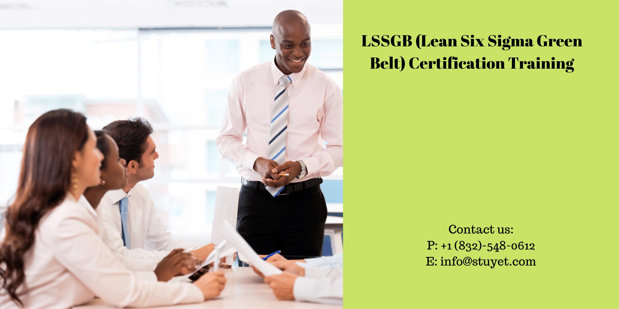 Lean Six Sigma Green Belt (LSSGB) Certification Training in Memphis,TN