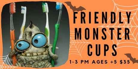 Friendly Monster- Kids Clay Hand Building tickets