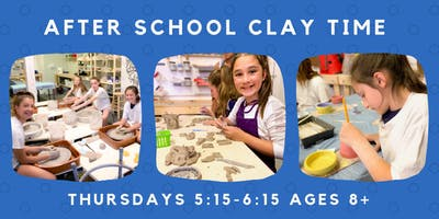 After School Kid's Clay Time: 5 weeks (Thursday September 19th- October 17th) 5:15pm-6:15pm