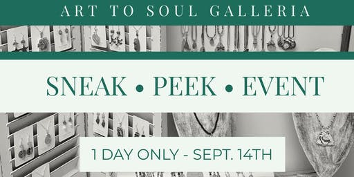 Art to Soul Galleria's September Sneak Peek 1 Day Handmade Shopping Event