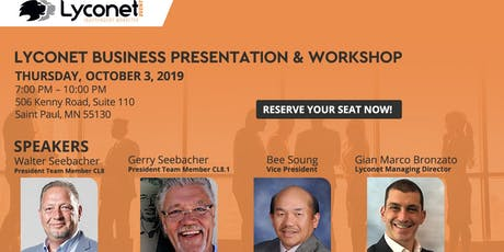 Lyconet Business Presentation & Workshop: St. Paul, MN - October 3, 2019 tickets