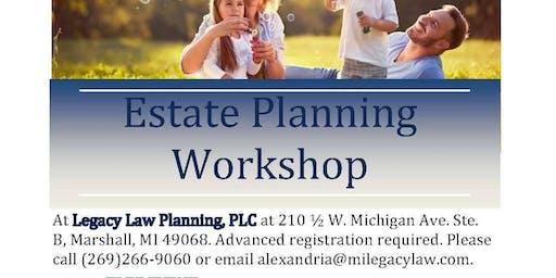 Estate Planning Workshop - August 2019