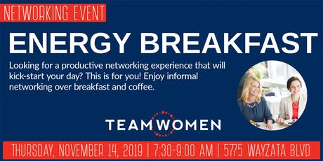Energy Breakfast Networking with TeamWomen - November tickets
