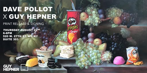 Dave Pollot Print Release & Signing at Guy Hepner