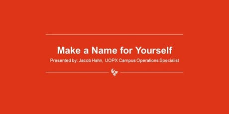 Make a Name for Yourself - Establishing Your Personal Brand tickets