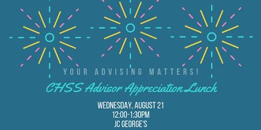 CHSS Advisor Appreciation Lunch