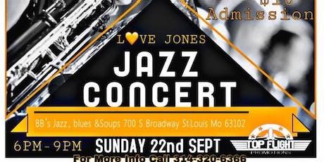 Love Jones Jazz Concert plus Comedy Show tickets