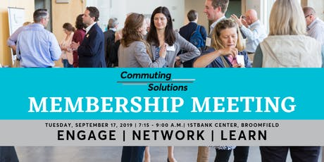 Commuting Solutions September Membership Meeting tickets