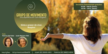 Grupo de Movimento: uma experiência em Core Energetics - aula experimental gratuita 23/08 ingressos