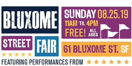 Bluxome Street Fair - August 25, 2019  tickets