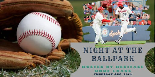 HERITAGE HOME LOANS NIGHT AT THE BALLPARK