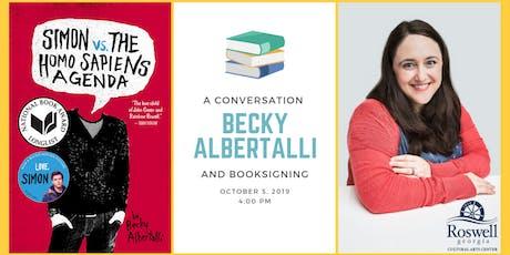 Conversation with Love, Simon Author Becky Albertalli tickets
