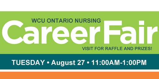 WCU Ontario Summer Career Fair 2019 - Student Registration