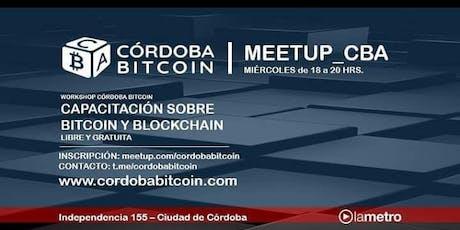 Workshop Cordoba Bitcoin #StartBlockchain entradas