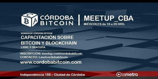 Workshop Cordoba Bitcoin #StartBlockchain