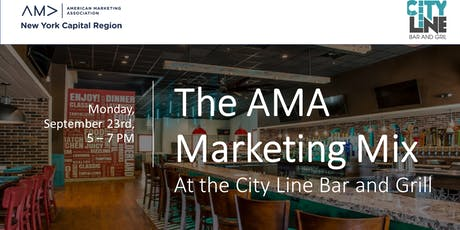 The AMA Marketing Mix at the City Line Bar and Grill tickets