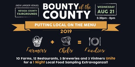 Bounty of the County 2019 - Putting Local on the Menu tickets