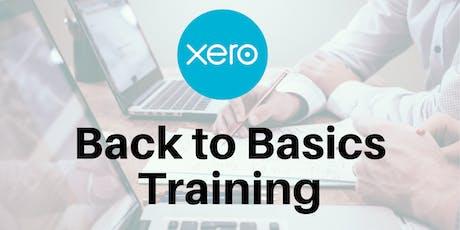 Xero Back to Basics Training tickets