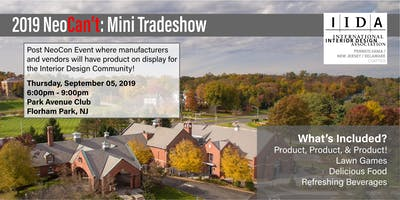 Sponsorship for IIDA NeoCan't, Mini-Tradeshow