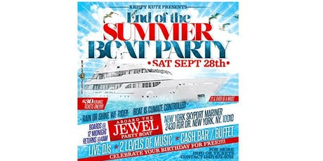 END OF THE SUMMER BOAT PARTY tickets