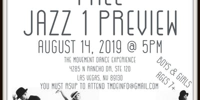 Free Jazz Preview for Ages 7-11