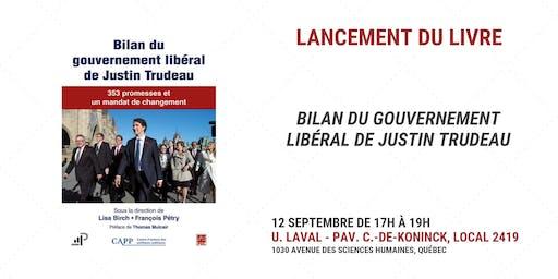 Lancement - Bilan du gouvernement libéral de Justin Trudeau