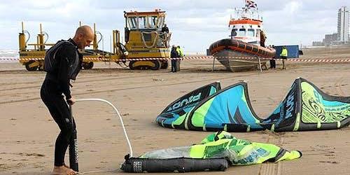 Kitesurf safetydag! Praktische veiligheidsdag voor kitesurfers - 5 jaar samenwerking NKV - KNRM