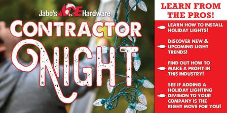 Christmas Light Contractor Night tickets