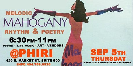 Melodic Mahogany ( Rhythm & Poetry ) SEP 5th @PHIRI  tickets